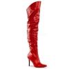 CLASSIQUE-3011 Red Faux Leather